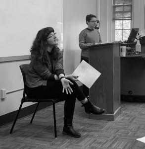 MFA students teach a pedagogy seminar.